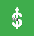 icon concept of key into dollar symbol keyhole on vector image vector image