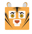 isolated tiger face vector image vector image