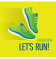Jogging and running concept flat icons of gym vector image vector image