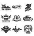 karting club or kart races sport template vector image vector image