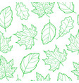leaves seamless outline green vector image vector image