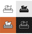 line style tissue paper box icon vector image