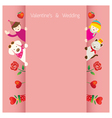 Love Concept Background and Border vector image vector image