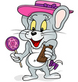 Mouse With Lollipop vector image vector image