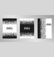 pixel cover design background set a4 format vector image