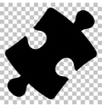 Puzzle piece sign Flat style black icon on vector image vector image