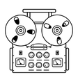 Reel tape recorder on white background vector image
