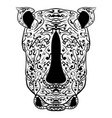 rhino head zentangle stylized vector image vector image