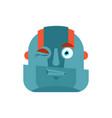 robot wink emoji cyborg merry emotions robotic vector image
