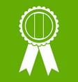 rosette icon green vector image