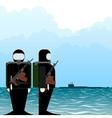 Saboteur submarine vector image vector image