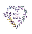 save the date hand drawn hearts with stylized vector image vector image