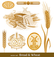 set - bread and wheat vector image vector image