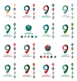 Set of map tag logo icons vector image vector image