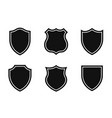 set shields in different shapes conceptual vector image vector image