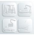 shipment set vector image vector image