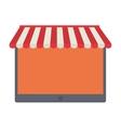 shopping online tablet order service vector image