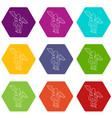 sign medicine icons set 9 vector image