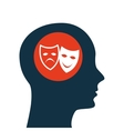 silhouette head concept cinema theatrical mask vector image