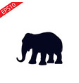 simple icon elephant web black elephant wild vector image