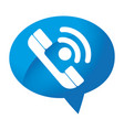 speech bubble with phone service button icon vector image