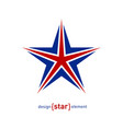 star - design element with united kingdom flag vector image
