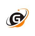star swoosh letter g vector image vector image