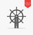 Steering wheel icon Flat design gray color symbol vector image