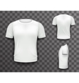 T-shirt Front Side Back View Template Realistic 3d vector image