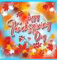 thanksgiving day 8 vector image vector image