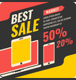 the banner sale of phones and computers vector image vector image