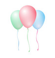 three color inflatable balloons - red green blue vector image vector image
