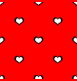 tile cute pattern with white hearts on red vector image