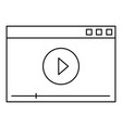 video play icon outline style vector image vector image