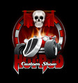 vintage hot rod logo for printing on t-shirts or vector image vector image