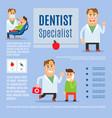 dentist specialist infographic design vector image