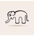elephant icon emblem vector image