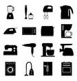 set of home electronics appliances vector image