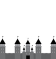 black castle on white background vector image