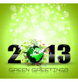 2013 ecology green themed greetings for new year vector | Price: 1 Credit (USD $1)