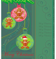 Abstract card with Christmas gingerbread vector image vector image