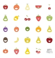 Abstract delicious fruits vector image