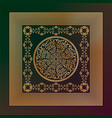 abstract golden tracery in square frame