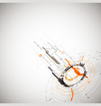 abstract technological background with various vector image vector image