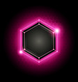 background with cyber poly hexagon pattern vector image vector image