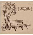 bench in city park vector image