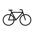 bicycle line icon navigation and transport sign vector image vector image