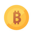 bitcoin gold flat icon round logo of vector image