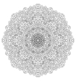 Black and white mandala vector image vector image