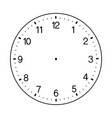 blank wall clock face on white background vector image vector image